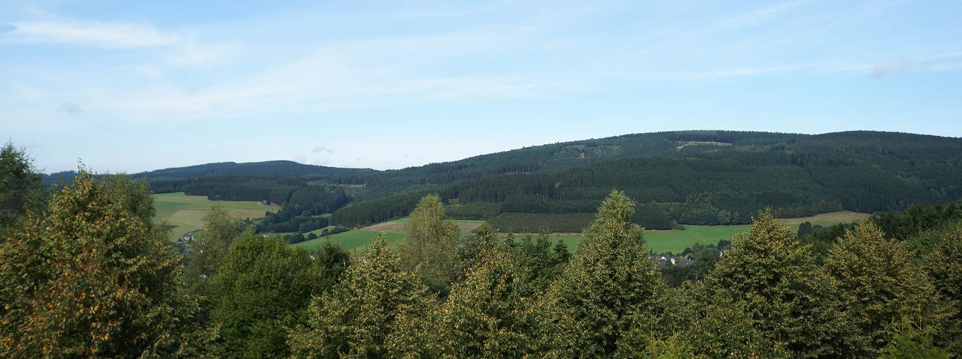 Unser Hotel liegt oberhalb vom Luftkurort Oberhundem am Rothaarsteig